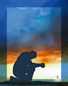 praying sillouette